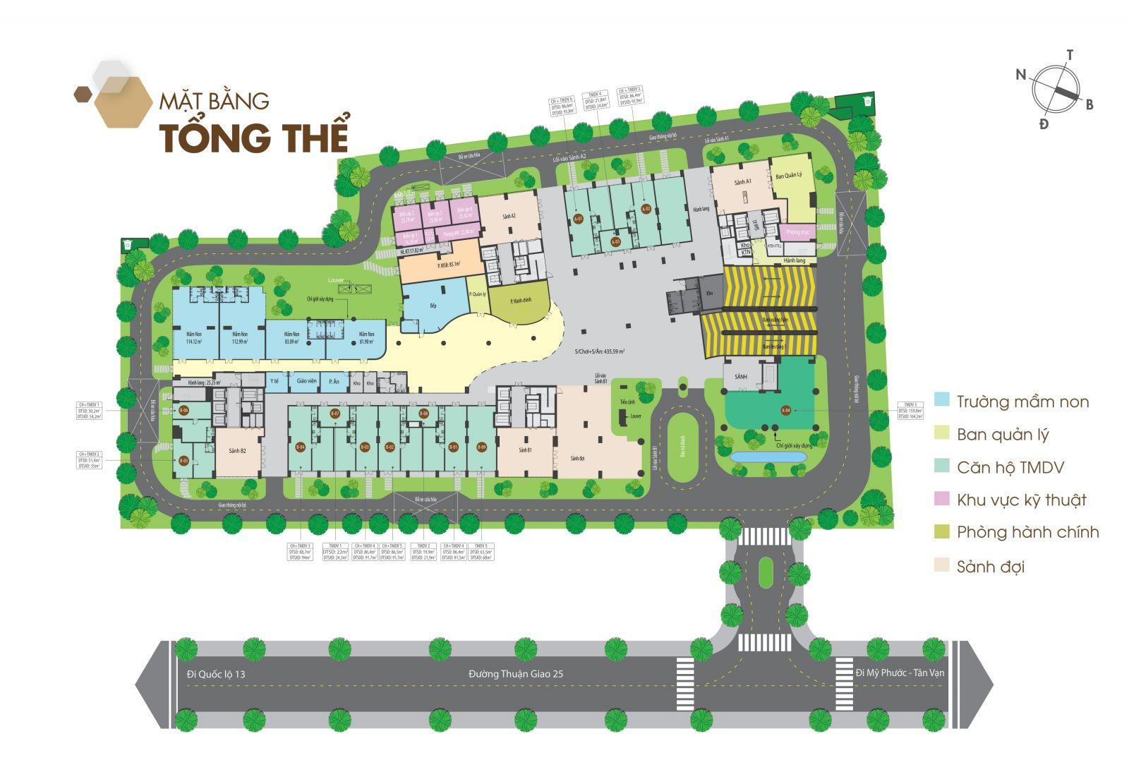 Mặt bằng tông thể căn hộ Legacy Central
